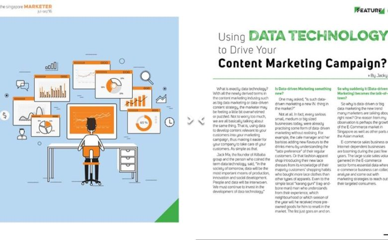 Featured on The Singapore Magazine for an article on Data Content Marketing